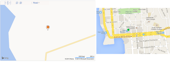 Bing Maps vs Apple Maps and Apple is blamed… (I'm in a small french island in the Pacific) http://t.co/5Wn9T6piWe