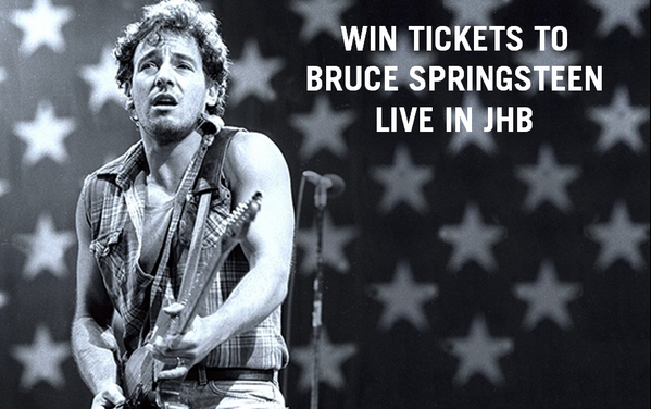 Win 1 of 3 DBL TICKETS TO BRUCE SPRINGSTEEN, a true American Icon, live in JHB Sat 1 Feb. Follow & retweet to enter http://t.co/BEsQXIiYMO