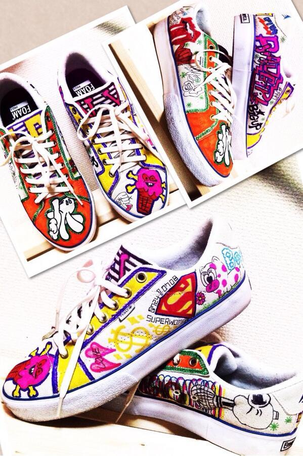 靴に落書き〜( ̄▽ ̄)