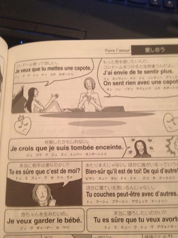恋する指差しフランス語とかいうフランス語教材の一ページ。ロックを感じる! https://t.co/83Gc3mm0d6