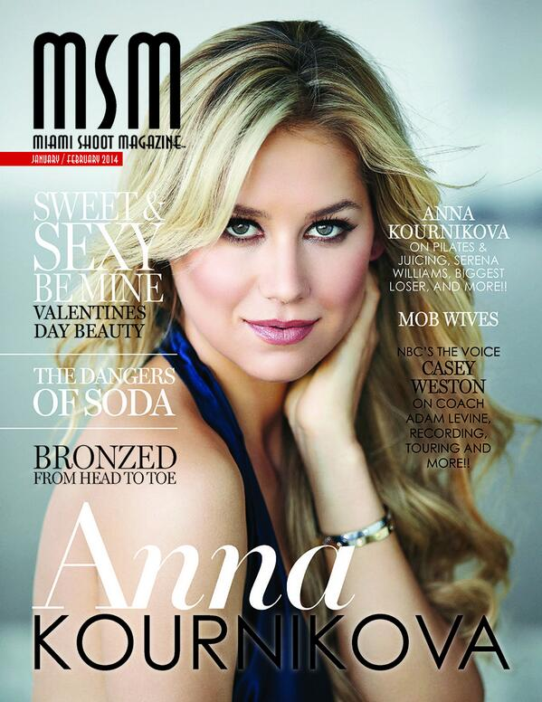 MSM EXCLUSIVE - #ANNAKOURNIKOVA graces the cover of @MIAMISHOOTMAG !!  #Beauty #Celebrity #Tennis #covershoot http://t.co/FDlhZTRTOW