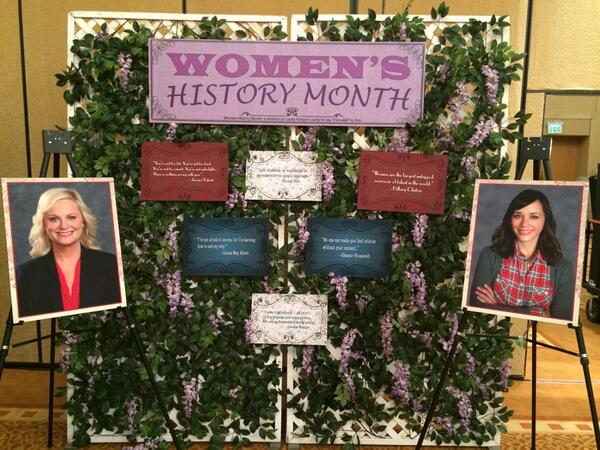 Leslie's unseen Women's History corner from last night. cc: @JessicaValenti http://t.co/SE2NFlfa66
