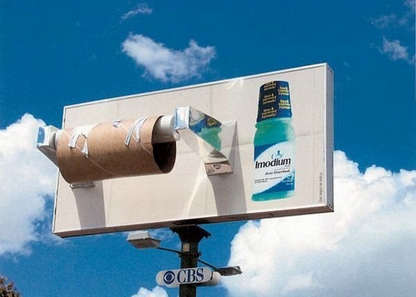 RT @Amscreen_Simon: Funny billboard advert for Imodium product ! #advertising #OOH http://t.co/8qDcyezS56