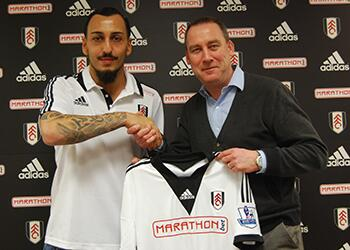 IT'S OFFICIAL: We welcome new #FFC player and Greek international Konstantinos Mitroglou http://t.co/Nn0AWpR8S2 http://t.co/kCsY9lpTO6
