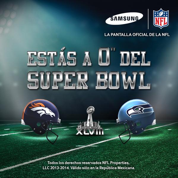 Todas las pasiones se desbordarán este domingo #CadaPulgadaCuenta #SuperBowl http://t.co/1mRp5i2ZV9