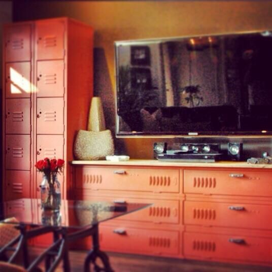 Old lockers can b/c a killer entertainment center in your #MegaDen @diynetwork #Superbowl GAME ON! http://t.co/079mOJz4HG