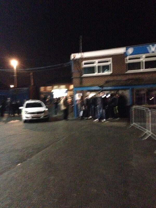 Knew it wouldn't be long! #lufc  RT @YO8Whites: Police here now to escort him out http://t.co/TejLoubKyt