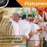 There is a reason why Pujya BapuJi has such a huge fan following and it is the truth. #SatyaMevJayate http://t.co/jClGet9BOs