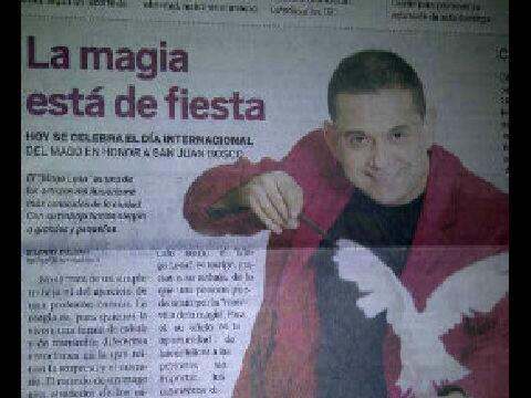 Yris Quijada (@yqdelvalle): Mira a mi bello @Magoleon1 en el Diario La Verdad @maruperozo @jpjackiepilates @albumania @ebmulti_media #DiadelMago http://t.co/cWDtvu12HA
