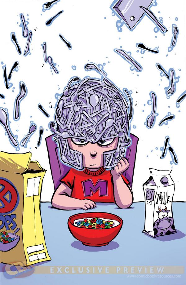 Magneto breakfast blues. http://t.co/nZoXJQs7Sb