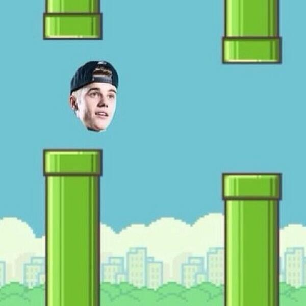 hahaha omg this picture made my day.. flappy bieber