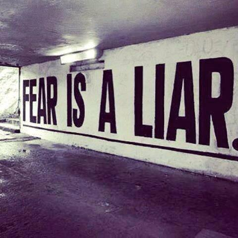 Fear is a Liar.  #themovement http://t.co/I106cmMIRv