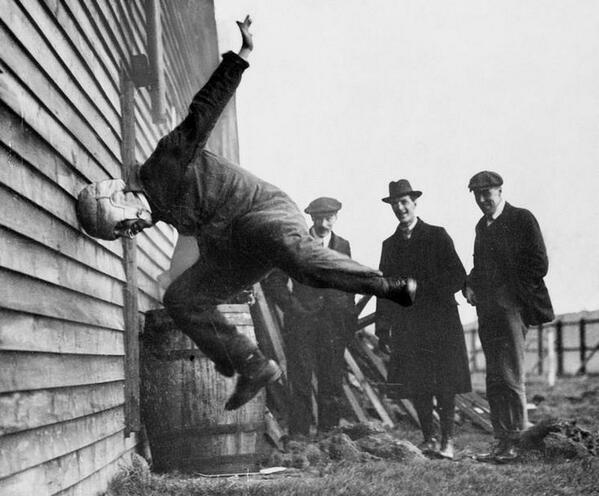 """@HistoryInPics: Testing Football Helmets in 1912 http://t.co/q2XLTlFX7V"""