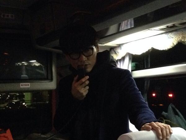 広島終了からバス移動。いつもの、バスガイドさん登場。 http://t.co/iSBpXCgqwN