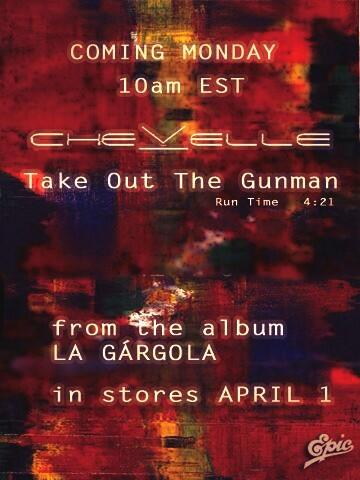 """Radio industry site http://t.co/RHqVAHSJB2 is reporting """"Take Out the Gunmen"""" is the 1st single off """"La Gárgola""""! http://t.co/woubA3lhwl"""