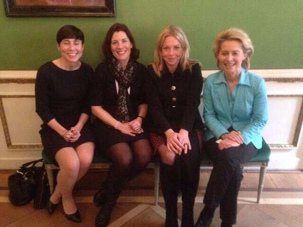 One for @FeministPics? The Defence Ministers of Norway, Sweden, Netherlands and Germany: http://t.co/Y9nuQPOADb (via @CBildt, @electionista