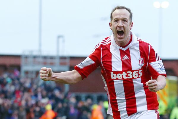 BfZt6FPCEAA5kqh Charlie Adam scores a worldy to see Stoke past Man United, helping Liverpool in chase for 4th