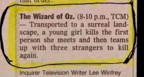 Best Wizard of Oz description EVER! http://t.co/qAVDxV6FGT http://t.co/1rf9zzUeqY