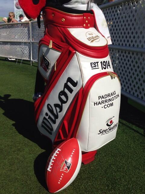 This Centennial @Wilson_Football was designed specially for Hole 16 handouts @WMPhoenixOpen. GIVEAWAY to come soon... http://t.co/Zz62ffg7Kc