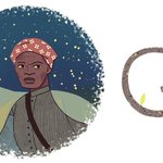Today's U.S. doodle celebrates Harriet Tubman, who led hundreds of slaves to freedom on the Underground Railroad