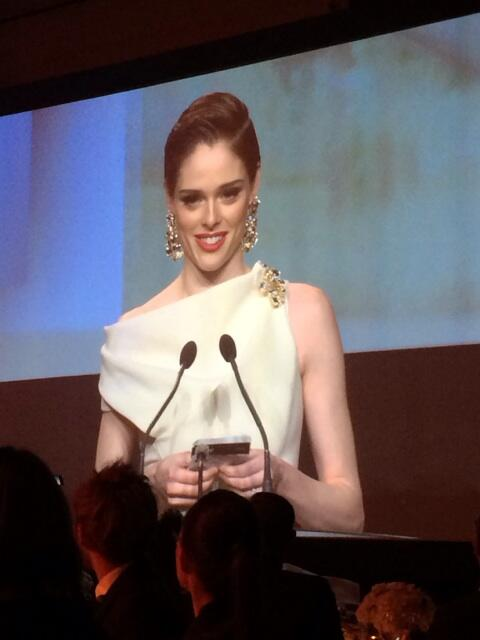 @cocorocha wins @cafawards Model of the Year and announces efforts to protect young models against abuse http://t.co/qT2RHMz6Gq
