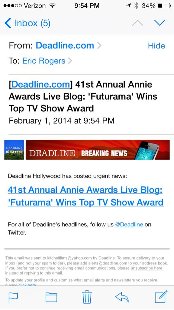 THEN THIS HAPPENED!!!! #Futurama #winning #AnnieAwards http://t.co/tg6xAKgVIx