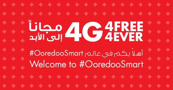4G. 4FREE. 4EVER. #OoredooSmart http://t.co/4oLeFOamPD