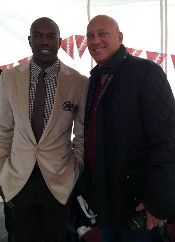 #SteveWilkos joins @terrellowens at the #Pix11 Super Kickoff Countdown Sunday morning. #pix11bowl #wilkos #superbowl http://t.co/riyctWmLWv