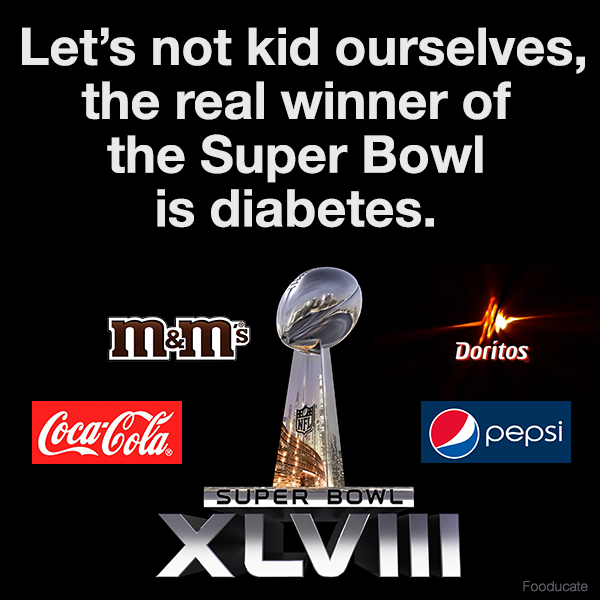 Let's not kid ourselves, the real winner of the Super Bowl is diabetes http://t.co/cCNBwAG2fc