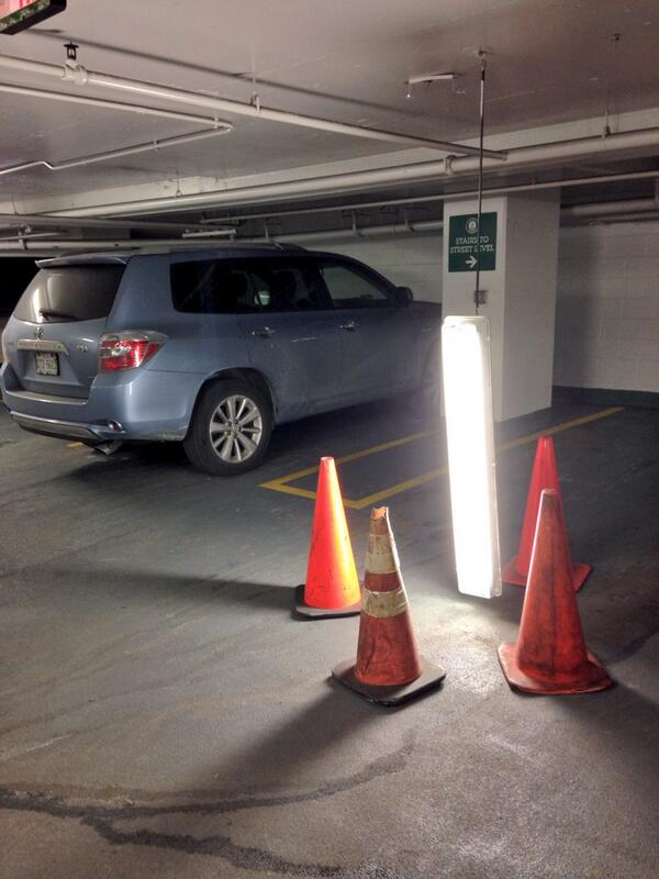 Found an unintentional art installation in this parking garage. http://t.co/xICRK4YMO3