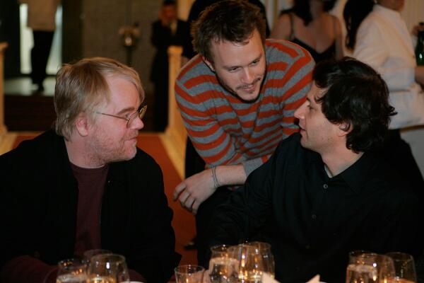 Philip Seymour Hoffman and Heath Ledger competed for Best Actor in 2005. Here's the two at Berlinale in 2006: http://t.co/klvimfzhe6