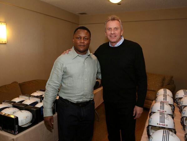 Shout out to @BarrySanders & @JoeMontana #chalktalk http://t.co/OUxBR7pSSK