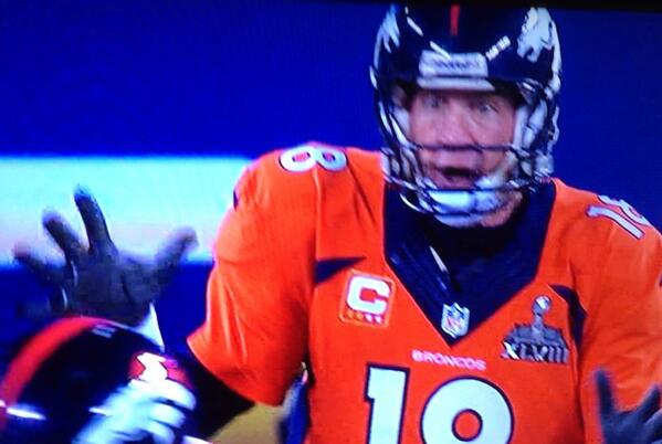 Oh sh*t.  #SuperBowl #Peyton http://t.co/F1ZirD4Sf6