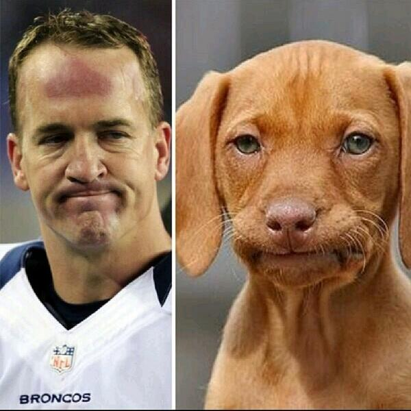 Manning face times two. #superbowl http://t.co/Sc6uR6UdFD