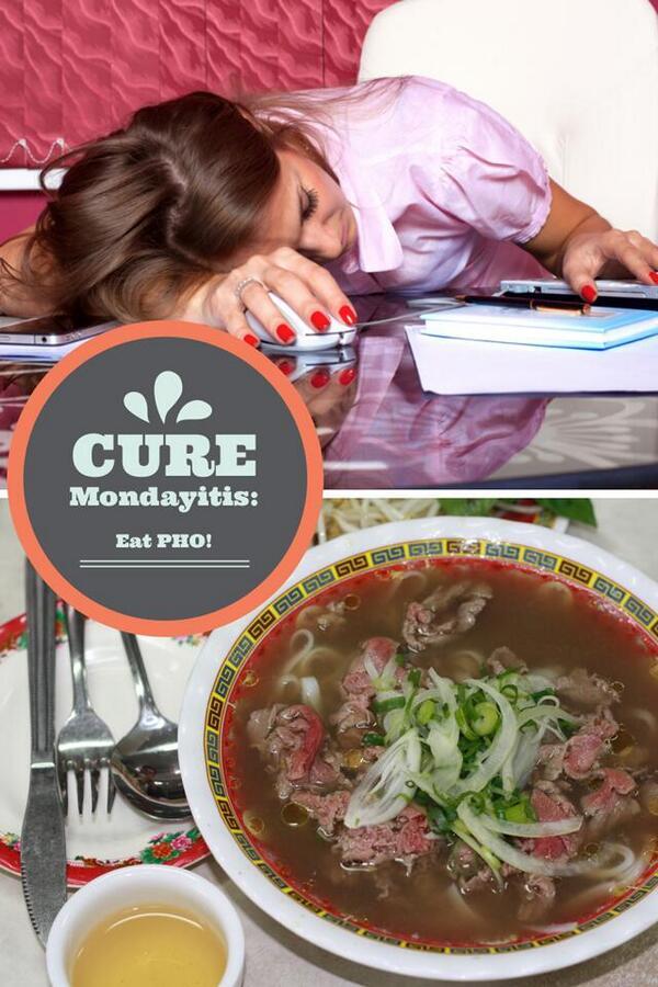 Pho cures Mondayitis. RT if you agree... #pho #food http://t.co/CwkrNapHK0