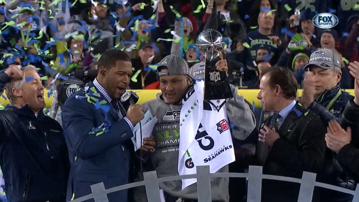 .@Seahawks LB Malcolm Smith is #SuperBowlXLVIII MVP (9 tackles, FR and TD) http://t.co/12GvFTmTIa