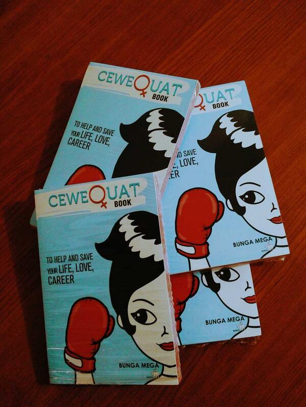 "Kita punya 4 ""CeweQuat Book"" yg siap dibagiin. RT tweet ini & follow @ceweQuat for a chance to win! GO! #PlusQuiz http://t.co/8hzxpmnecj"