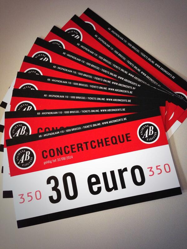30.000 followers, hooray! Retweet to win one of these concert cheques. #ABconcerts http://t.co/iT1qDI68mX