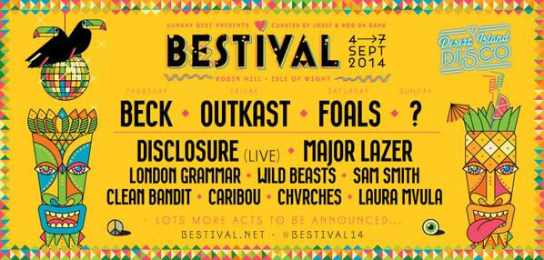 11 new acts confirmed for #Bestival14 including 2 more headliners @Foals & @Beck http://t.co/eb7S1rprmQ #Bestival http://t.co/WlTUyOF8V9