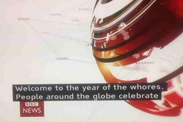 OMG!! 'Welcome to the year of whores' unfortunate subtitle mistake by the BBC http://t.co/DaWjCTmAd7 #yearofthehorse http://t.co/XASmbgysSq