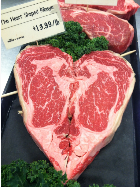 What are you getting your sweetie for Valentine's Day? How about a heart-shaped ribeye? http://t.co/DU29MeJDQy