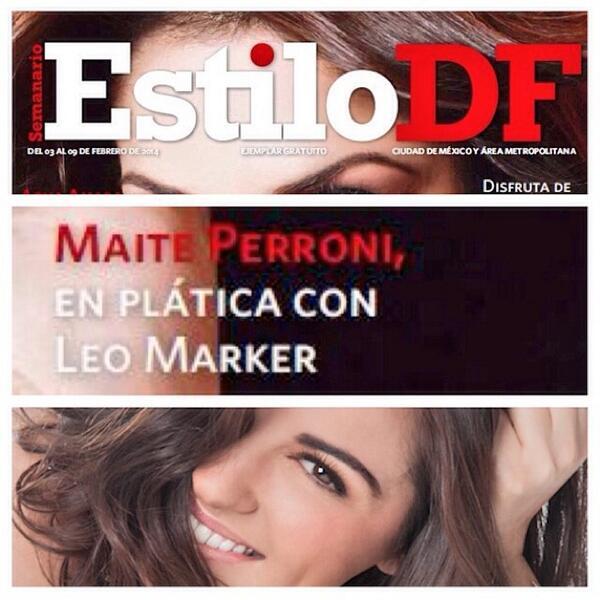 Hoy en mi columna #PersonalidadesConEstilo de la revista @EstiloDF, me acompaña @MaiteOficial http://t.co/4OnN3GiNhL