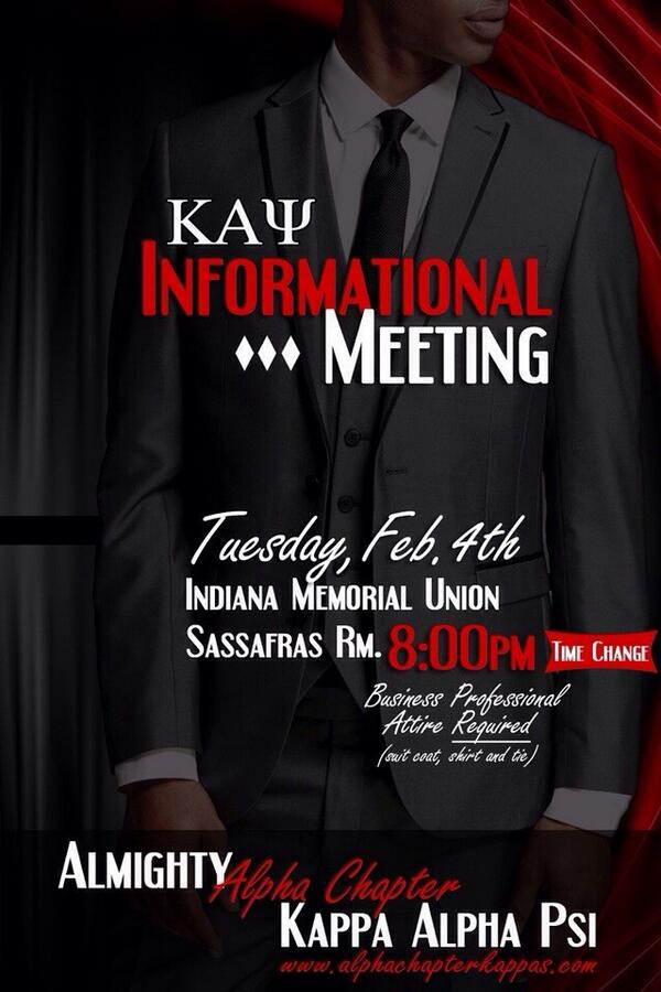 There has been a time change for the informational tomorrow February 4th, 8PM in the Sassafras room in the IMU. http://t.co/Cy6E6nmqVq