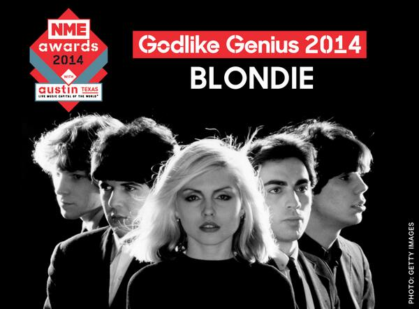 "YOU HEARD ""Blondie to receive #godlikegenius award at NME Awards 2014 with Austin, Texas http://t.co/xrbp7hMUWY  http://t.co/kfMOkuitYl"""