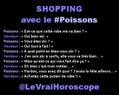 Le #Poissons fait du shopping :