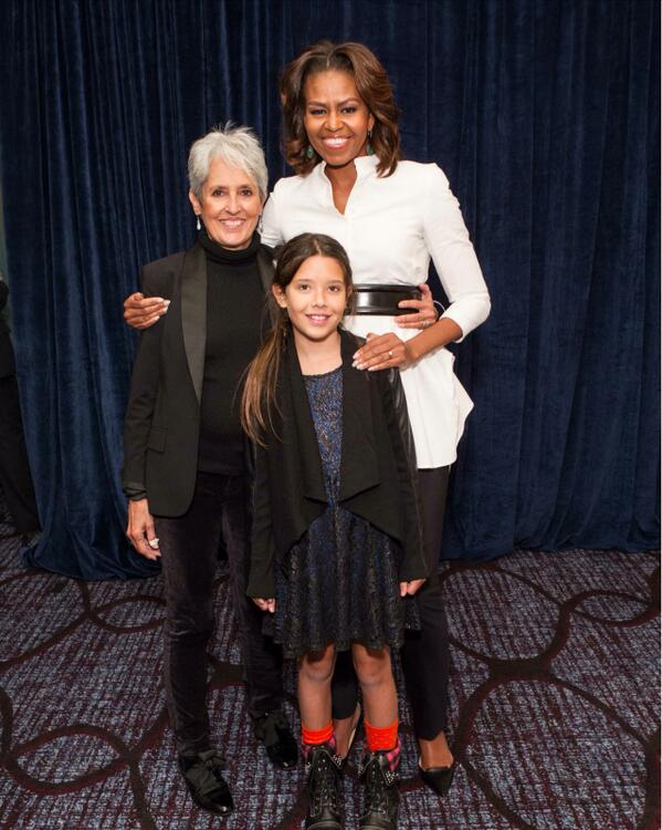 With granddaughter Jasmine and First Lady @MichelleObama http://t.co/h192VmMmBT