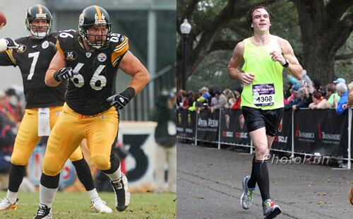 Former 300-pound NFL lineman Alan Faneca ran a 3:56 marathon yesterday: http://t.co/QRCCk7wbjQ #RnRNOLA http://t.co/iTBuXgedzL