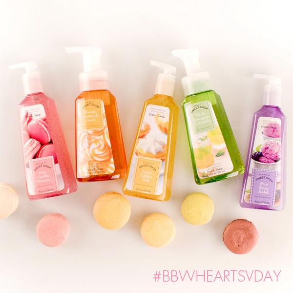 Melon or macaron? Sorbet or swirl? These soaps are so sweet, we just can't resist! #bbwheartsvday #oneofeachplease http://t.co/gI3o6xpXC3