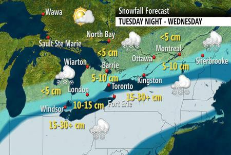 Nicole Karkic (@NicoleKarkic): Get the shovles ready in Ontario this week.  Check out the snowfall forecast.  #onstorm #Toronto #Hamilton http://t.co/LBLau5701q