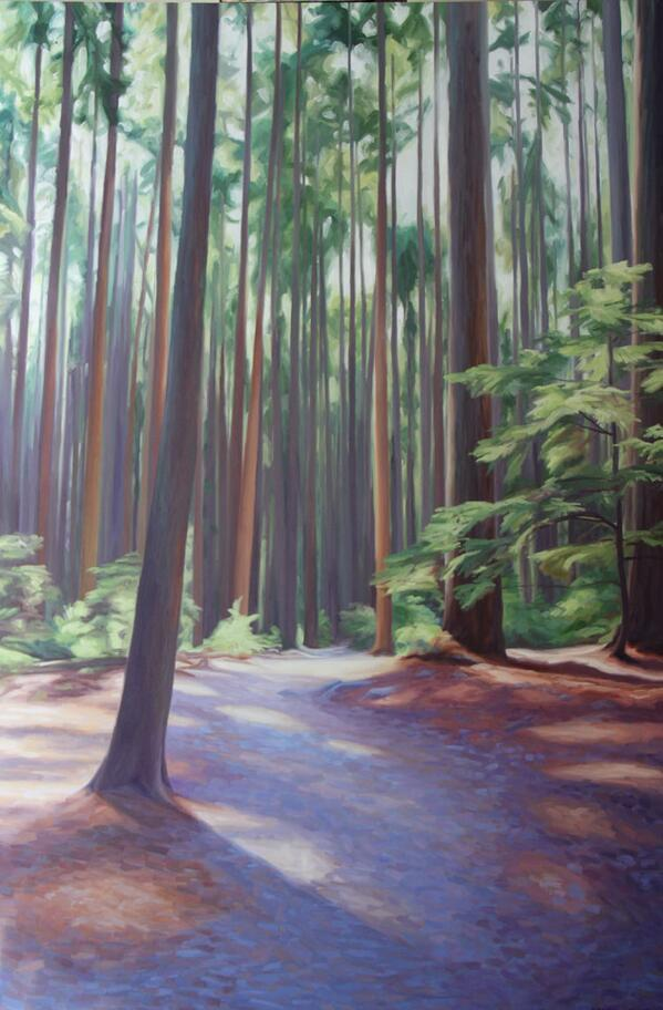 I painted a larger version of the #painting that is at the #‎YVR AC lounge. Pacific Spirit Park II! #art #Vancouver http://t.co/vZiHvHngKf